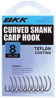 BKK Carp hook Curved shank Super slide
